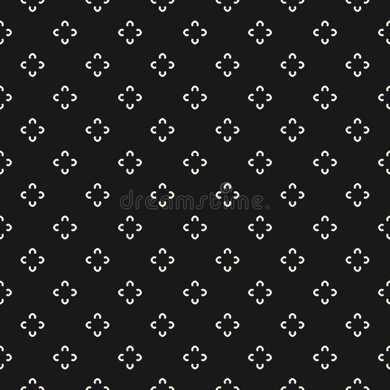 Modèle floral simple Texture sans couture avec la fleur illustration libre de droits