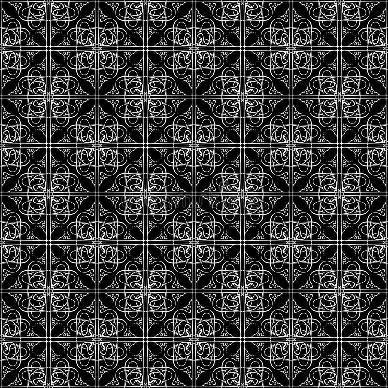 Modèle foncé d'art noir de cru sans couture de résumé illustration de vecteur