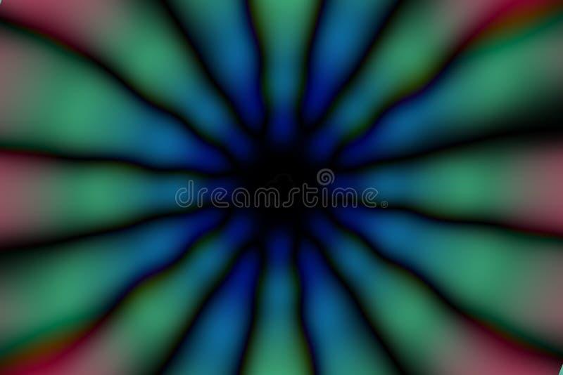 Modèle foncé de cercle radial multicolore photographie stock libre de droits
