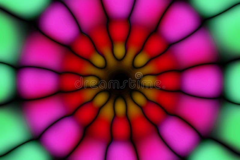 Modèle foncé de cercle radial multicolore image libre de droits