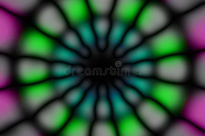 Modèle foncé de cercle radial multicolore photo libre de droits