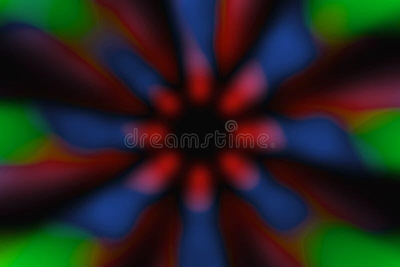 Modèle foncé de cercle radial multicolore photo stock
