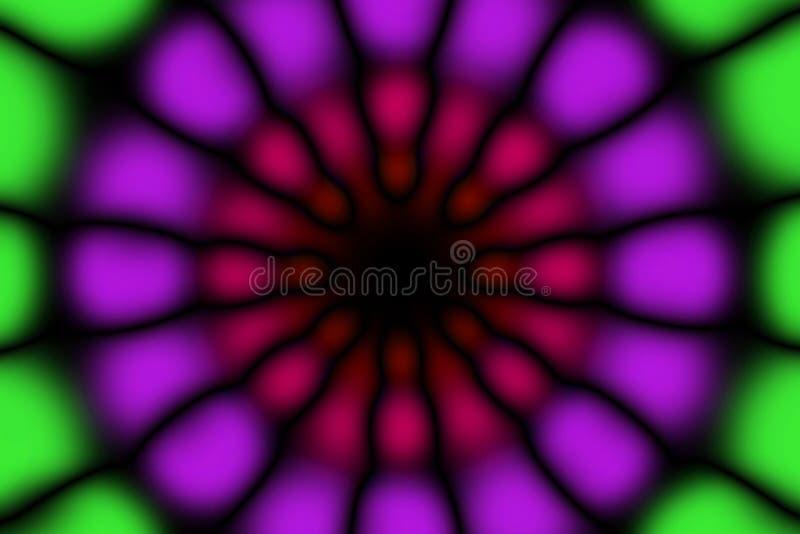 Modèle foncé de cercle radial multicolore image stock