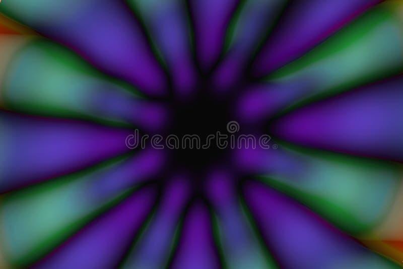 Modèle foncé de cercle radial multicolore photographie stock