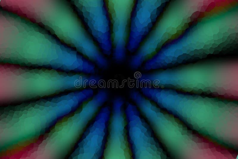 Modèle foncé de cercle radial multicolore, effet de mosaïque images libres de droits