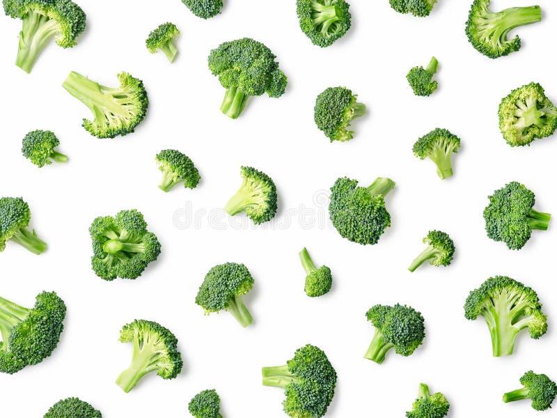 Modèle frais de brocoli d'isolement sur le fond blanc photo stock