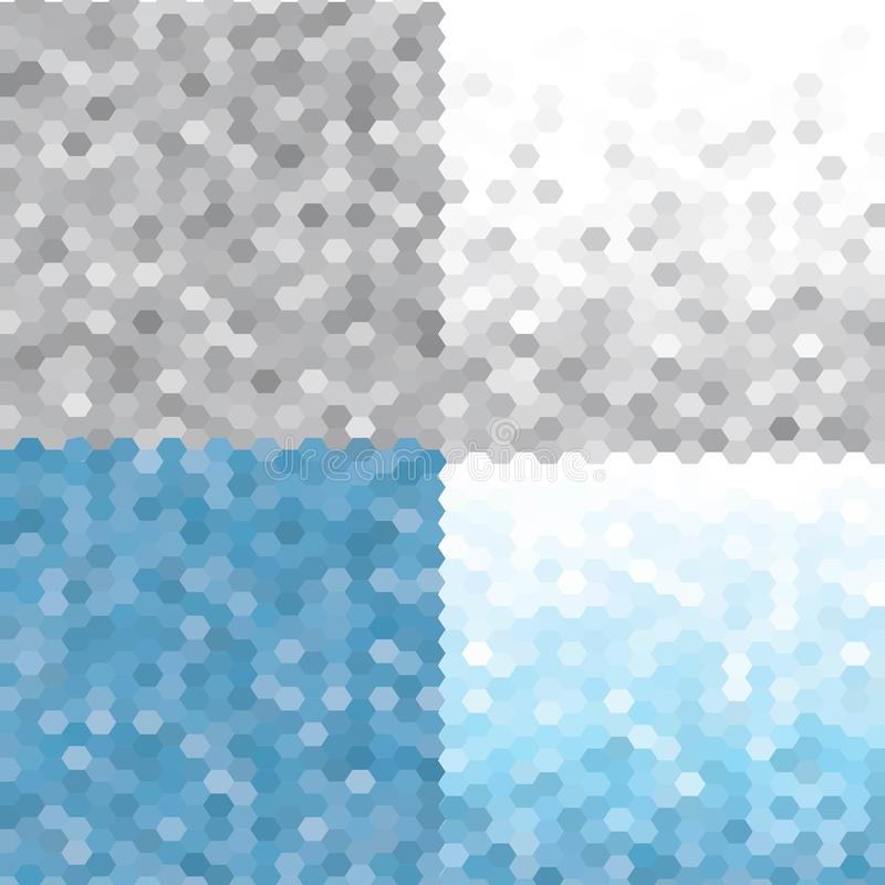 Modèle Frosty Morning réglé de triangle Milieux géométriques sans couture de vecteur ENV 10 illustration libre de droits