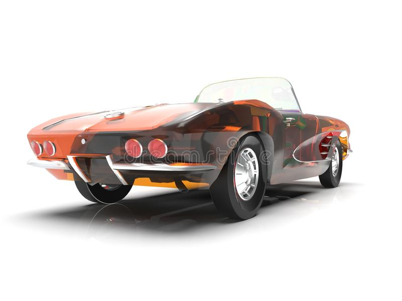 Modèle générique et de vintage du rendu de la voiture 3d illustration de vecteur