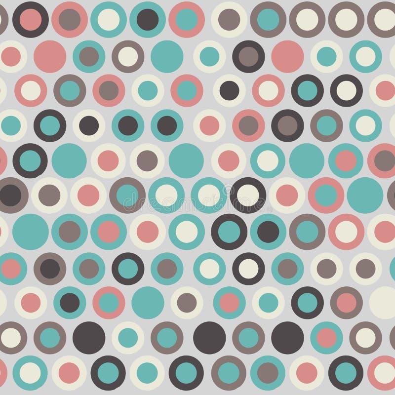 Modèle géométrique élégant sans couture Illustration de vecteur avec la diverse couleur de cercles concentriques illustration de vecteur