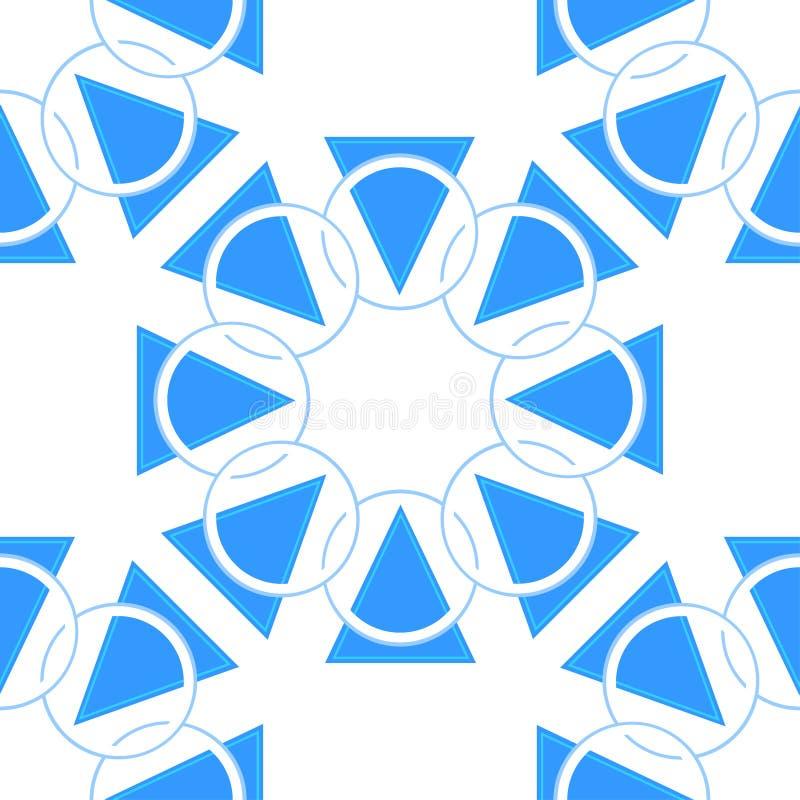 Modèle géométrique abstrait avec des cercles et des formes de triangle Fond sans joint de vecteur Texture color?e illustration libre de droits
