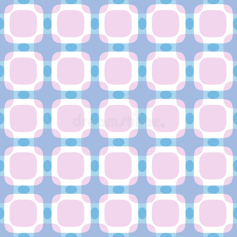 Modèle géométrique abstrait carré sans couture illustration de vecteur
