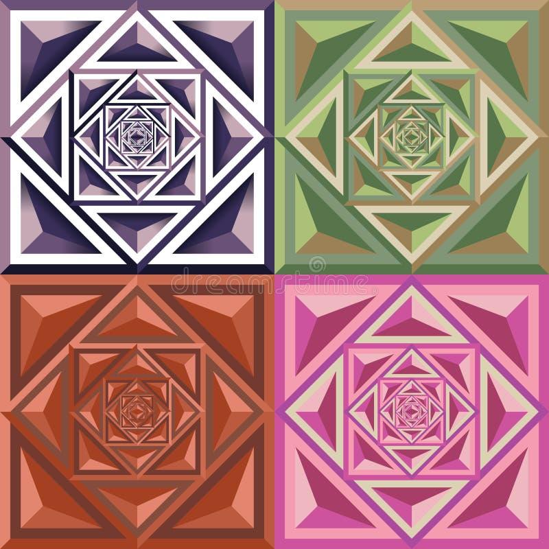 Modèle géométrique abstrait de couleur illustration de vecteur