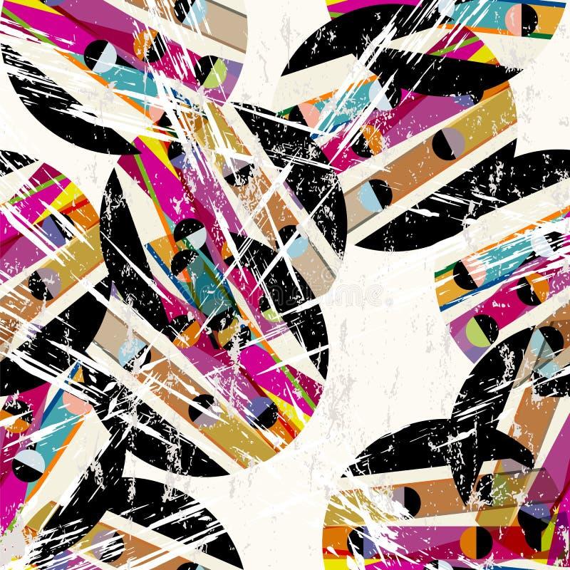 Modèle géométrique abstrait de fond illustration stock