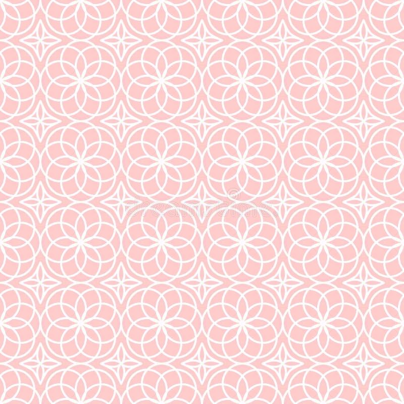 Modèle géométrique abstrait de vecteur avec l'ornement ethnique illustration de vecteur