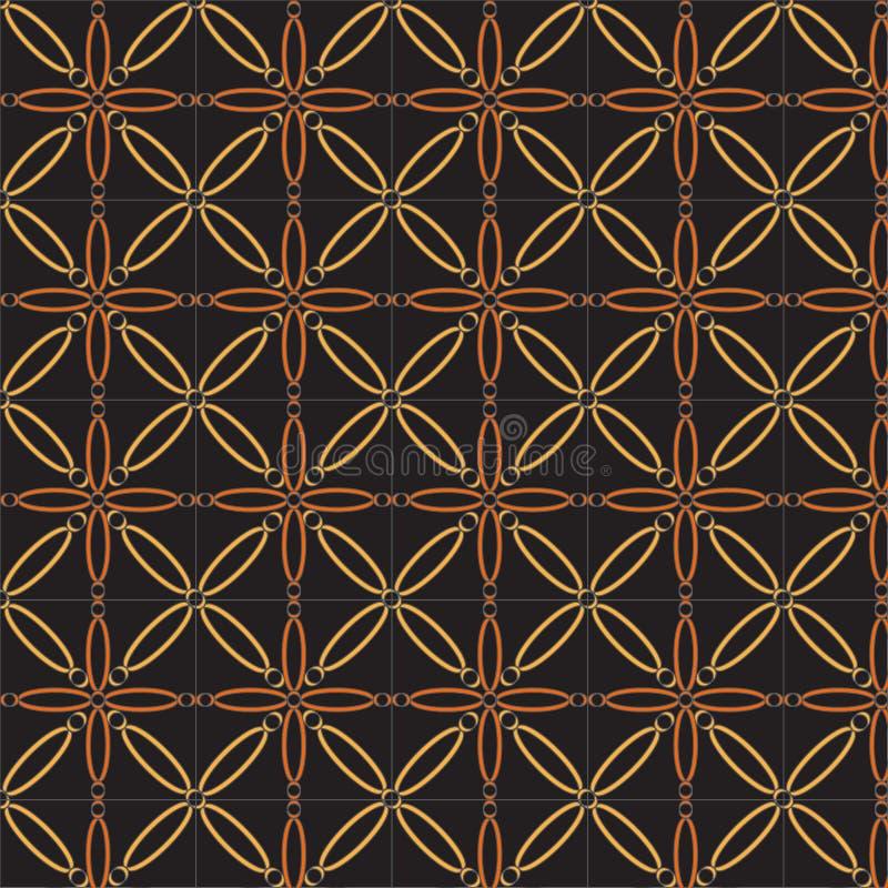 Modèle géométrique abstrait de vecteur dans la couleur brune multiple naturelle illustration libre de droits