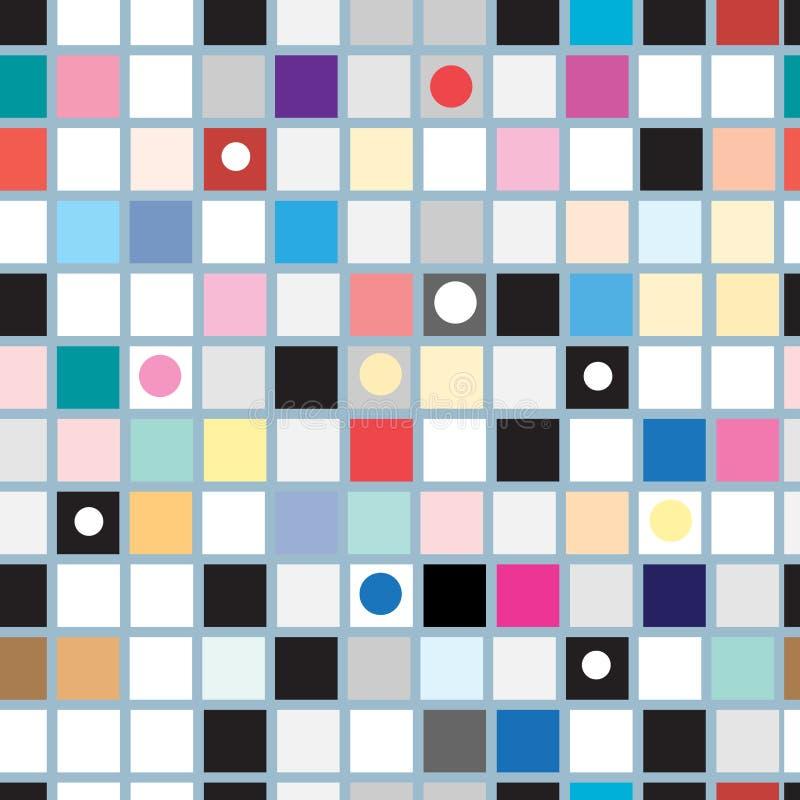 Modèle géométrique abstrait des places illustration de vecteur