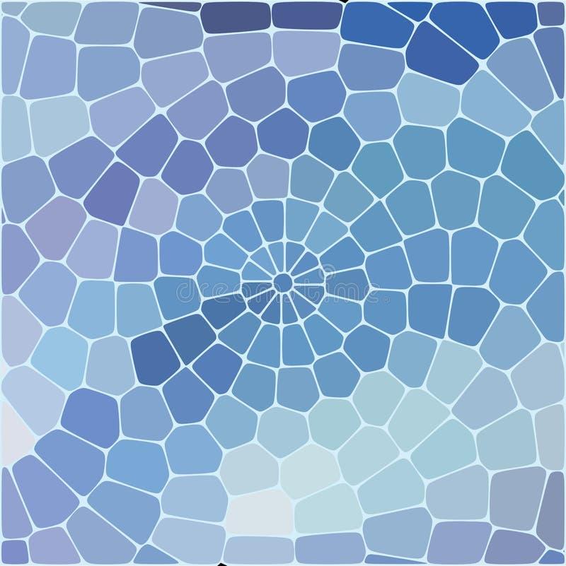 Modèle géométrique abstrait des places bleues sur le fond blanc illustration libre de droits