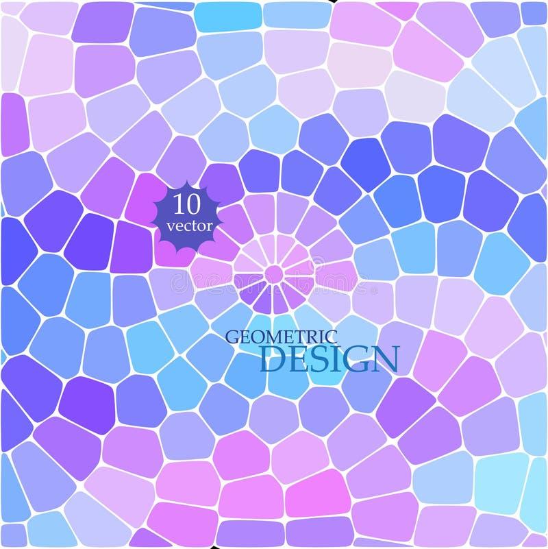 Modèle géométrique abstrait des places bleues sur le fond blanc illustration stock