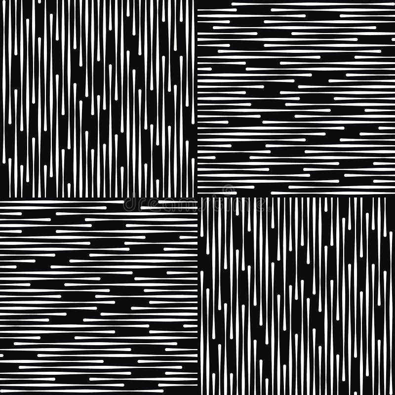 Modèle géométrique abstrait noir et blanc de vecteur. illustration libre de droits