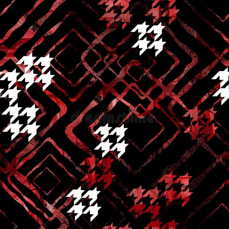 Modèle géométrique abstrait sans couture avec l'effet d'aquarelle Modèle élégant pour des textiles illustration libre de droits