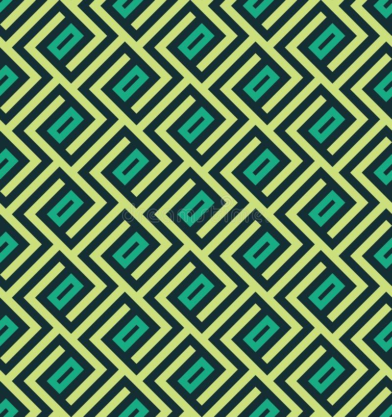 Modèle géométrique abstrait sans couture de lnes - dirigez eps8 illustration stock