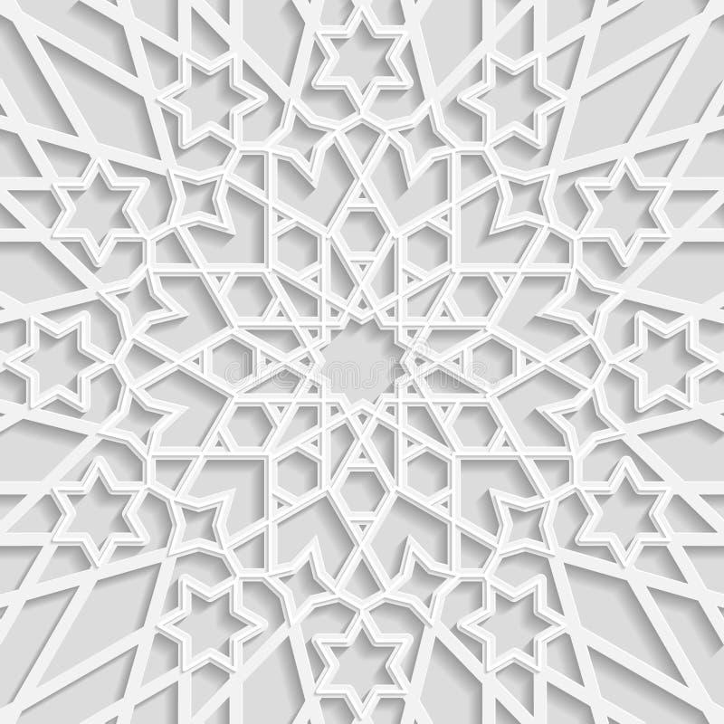Modèle géométrique arabe sans couture, ornement est, ornement indien, motif persan illustration libre de droits