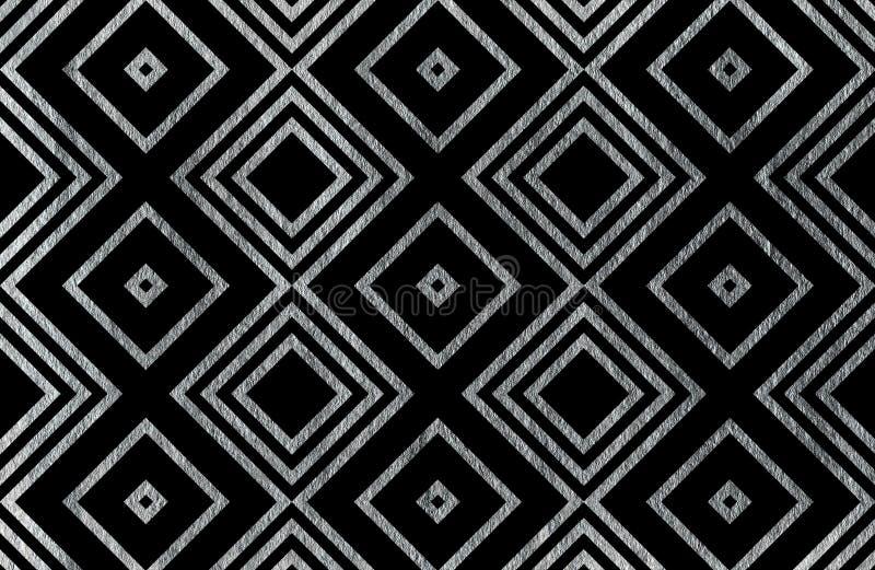 Modèle géométrique argenté illustration libre de droits