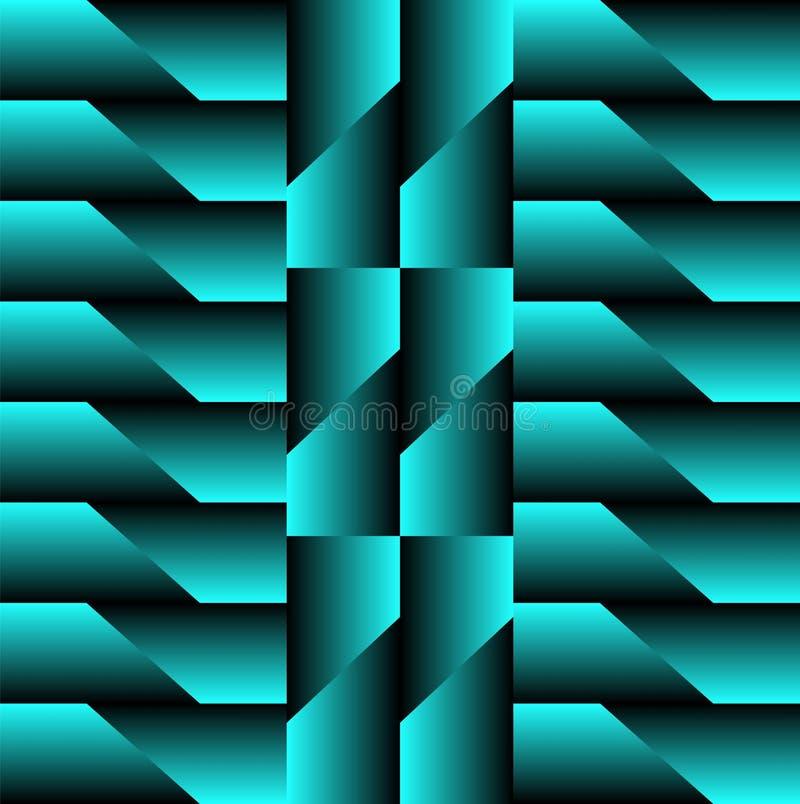 Modèle géométrique au néon pour un avare illustration libre de droits
