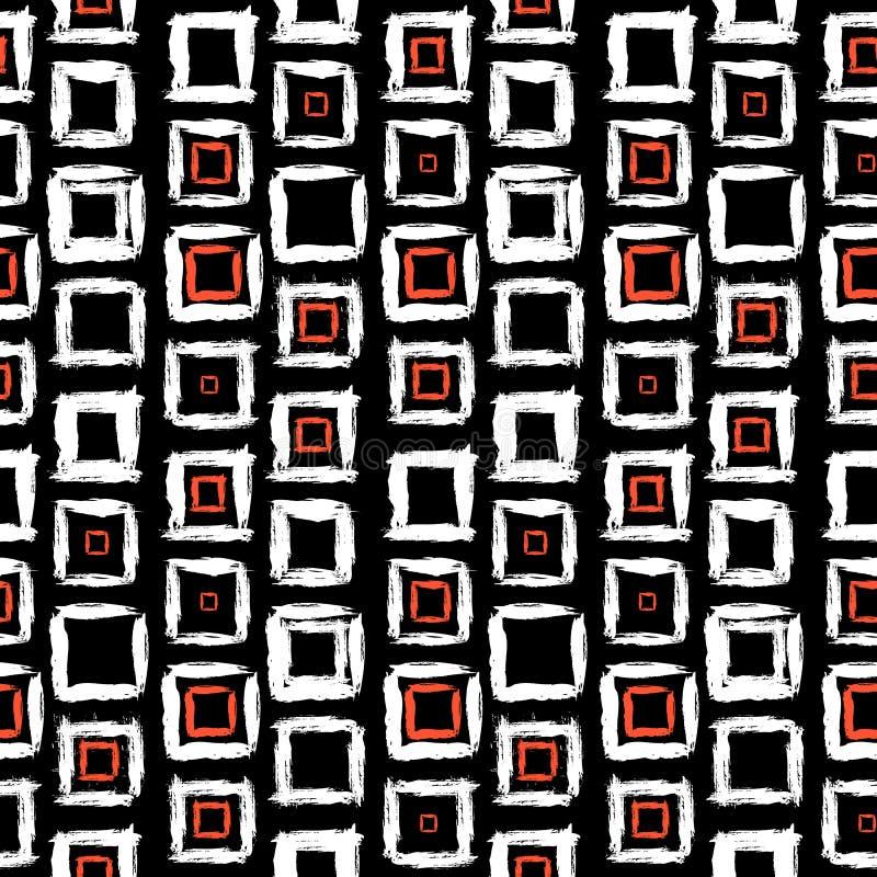 Modèle géométrique avec de petites places peintes à la main illustration libre de droits