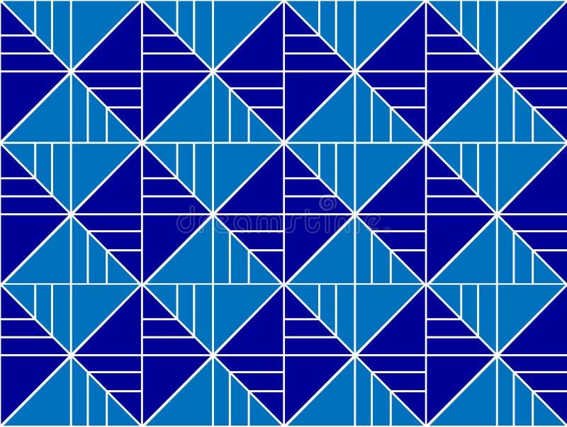 Modèle géométrique avec des lignes et des places illustration stock
