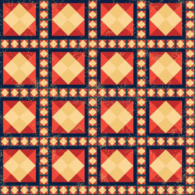 Modèle géométrique avec l'effet grunge illustration stock