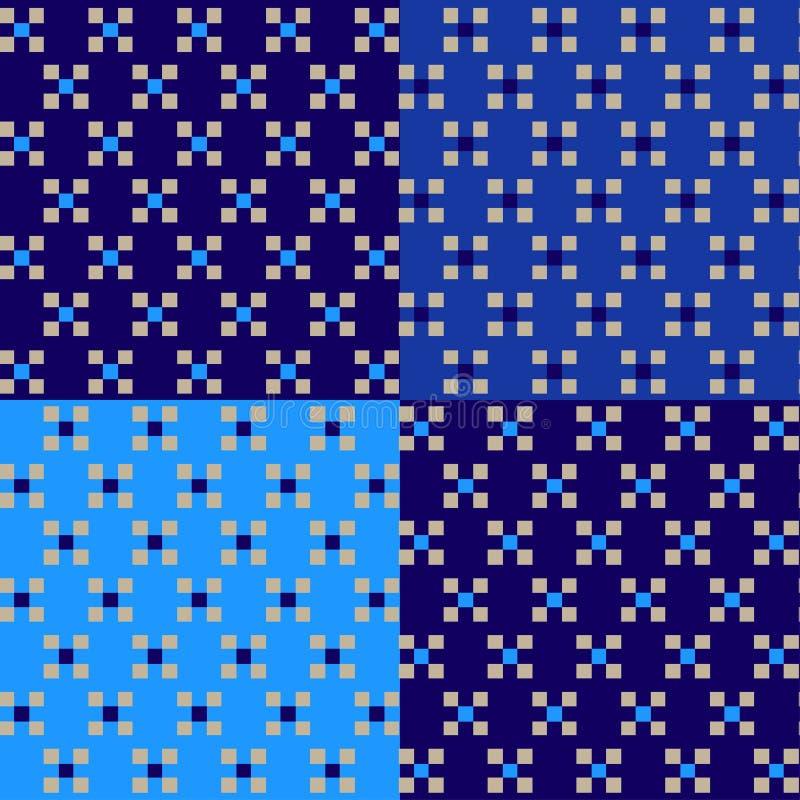 Modèle géométrique avec la place dans la couleur bleue photographie stock libre de droits