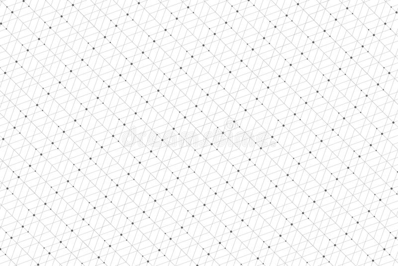 Modèle géométrique avec les lignes et les points reliés Connectivité graphique de fond Contexte polygonal élégant moderne illustration libre de droits