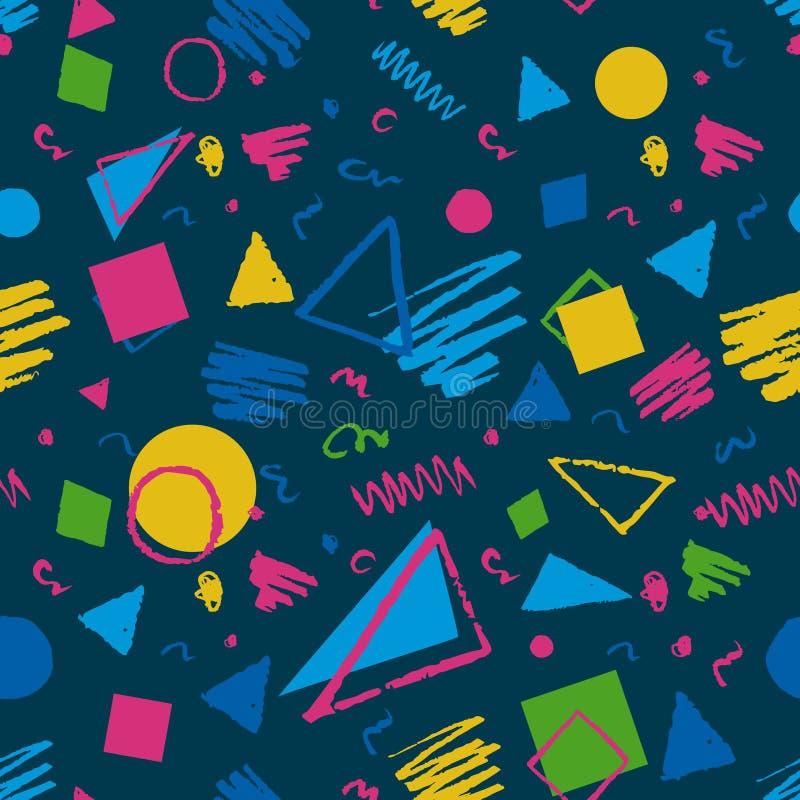 Modèle géométrique bleu-foncé illustration libre de droits