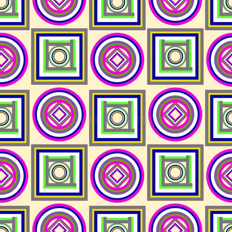 Modèle géométrique coloré avec des cercles et des places illustration libre de droits