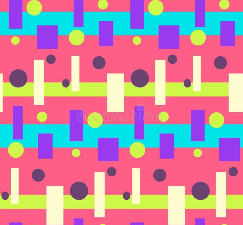 Modèle géométrique coloré lumineux rose abstrait illustration de vecteur