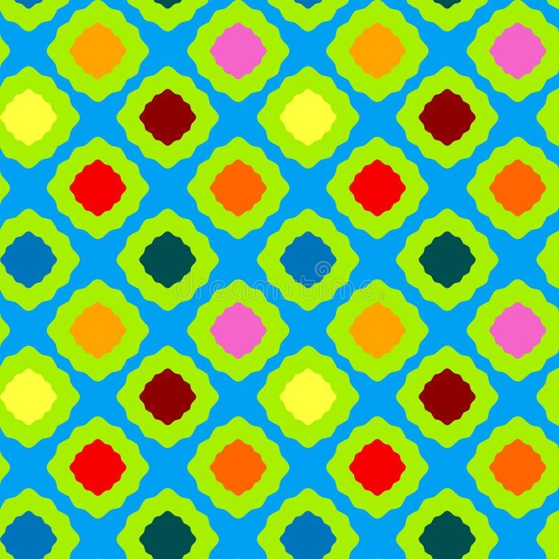Modèle géométrique coloré sans couture de places illustration de vecteur