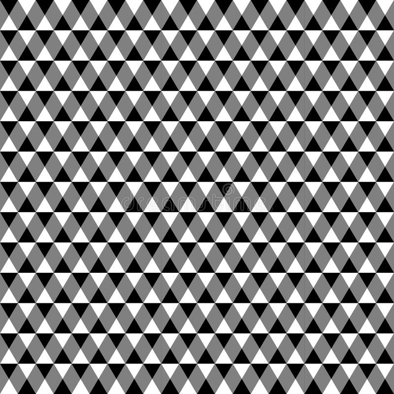 Modèle géométrique contrasty qu'on peut répéter Mosaïque des triangles avec illustration libre de droits