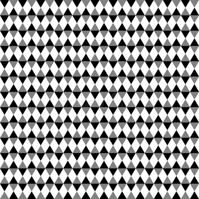 Modèle géométrique contrasty qu'on peut répéter Mosaïque des triangles avec illustration de vecteur