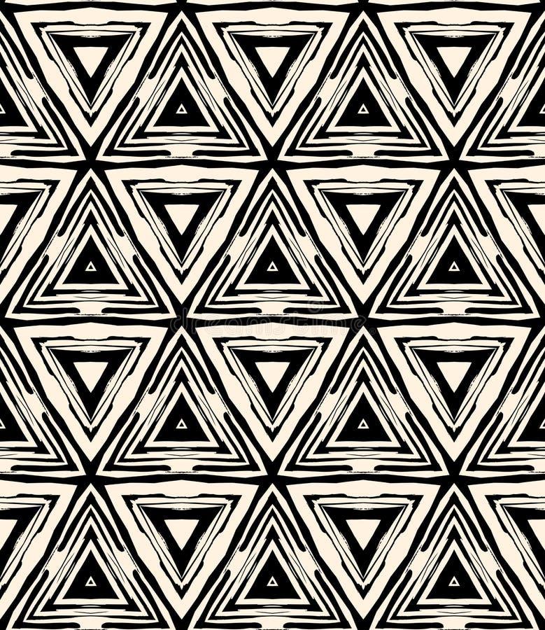modèle géométrique d'art déco des années 1930 avec des triangles illustration libre de droits