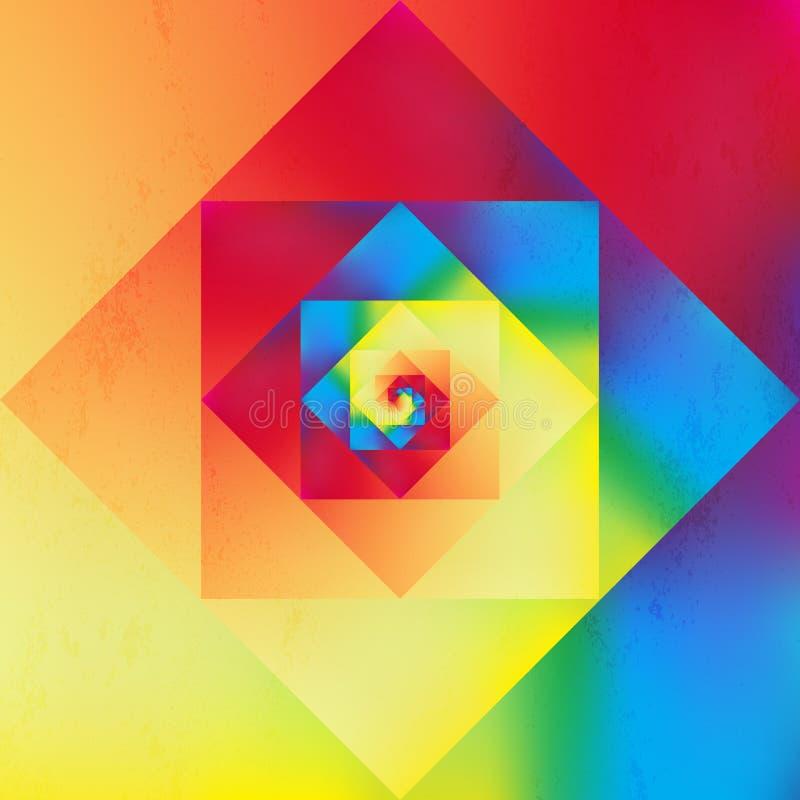 Modèle géométrique d'art optique vibrant illustration libre de droits