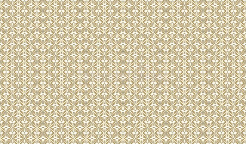 Modèle géométrique d'or, partie 13 illustration stock