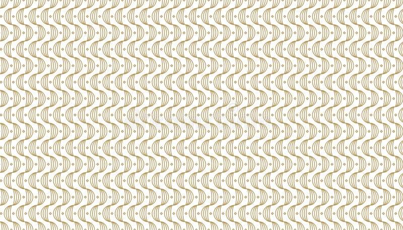 Modèle géométrique d'or, partie 27 illustration de vecteur