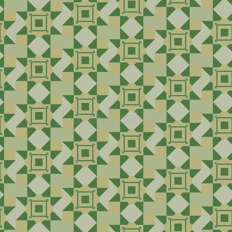 Modèle géométrique dans kaki illustration stock