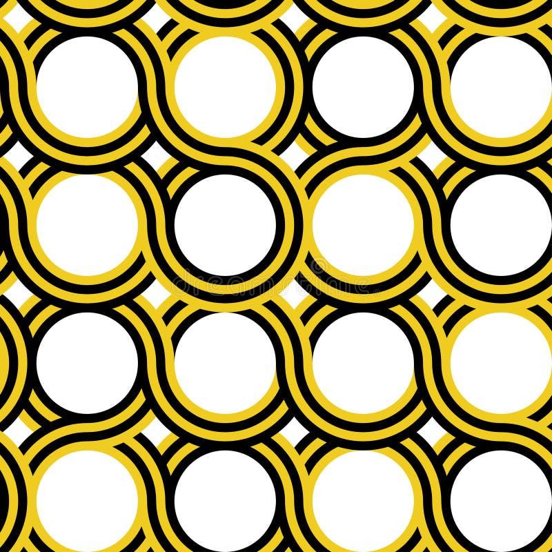 Modèle géométrique de cercle illustration stock