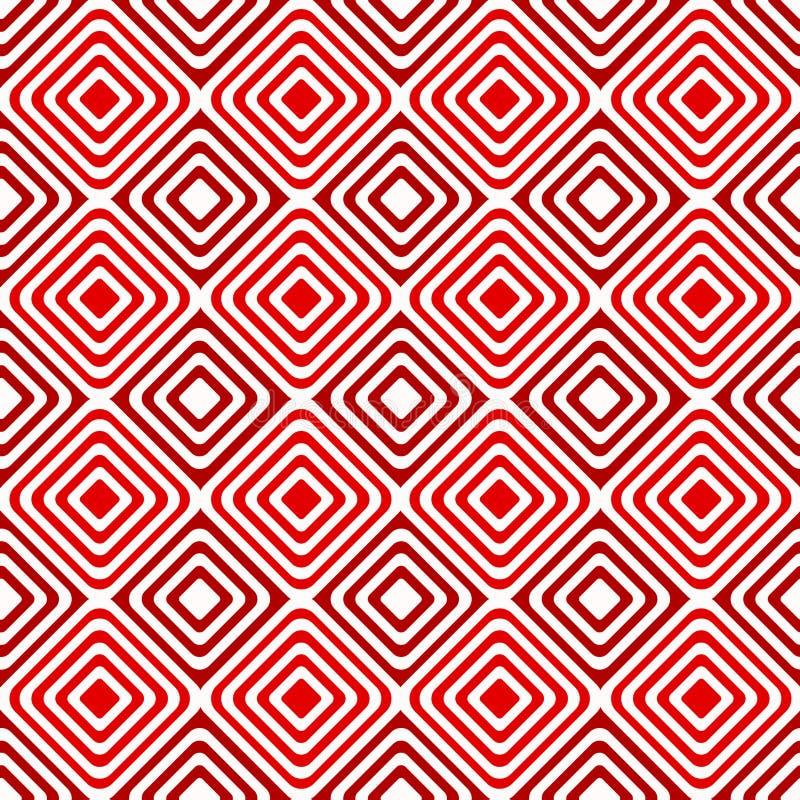 Modèle géométrique de diamants concentriques sans couture illustration stock