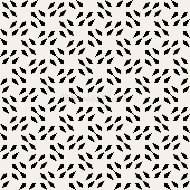 Modèle géométrique de flèche de vecteur de forme carrée noire et blanche sans couture de tête illustration de vecteur