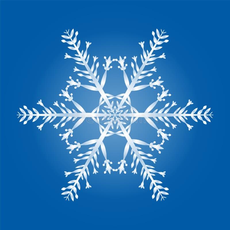 Modèle géométrique de flocon de neige simple illustration libre de droits
