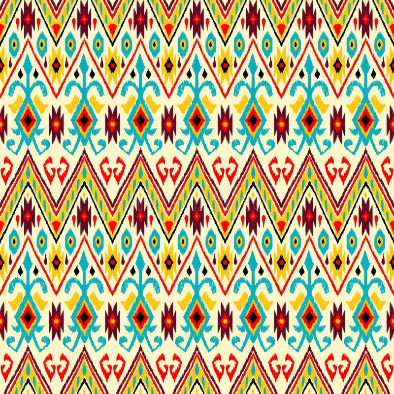 Modèle géométrique de folklore d'Ikat illustration stock