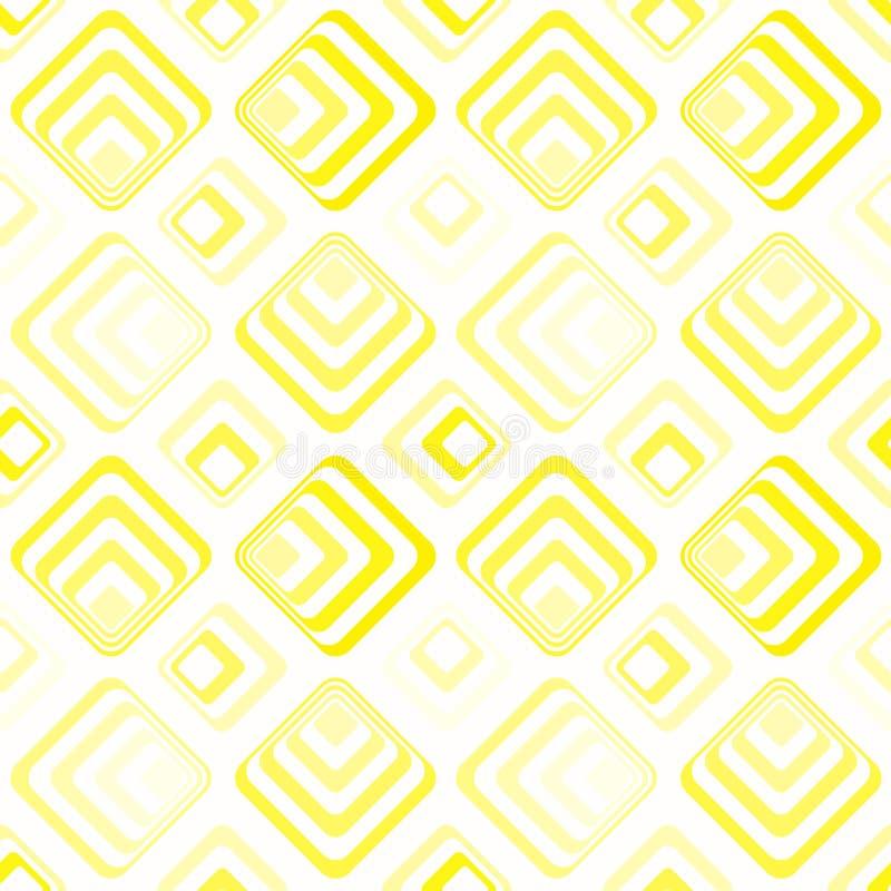 Modèle géométrique de jaune vertigineux de places illustration libre de droits